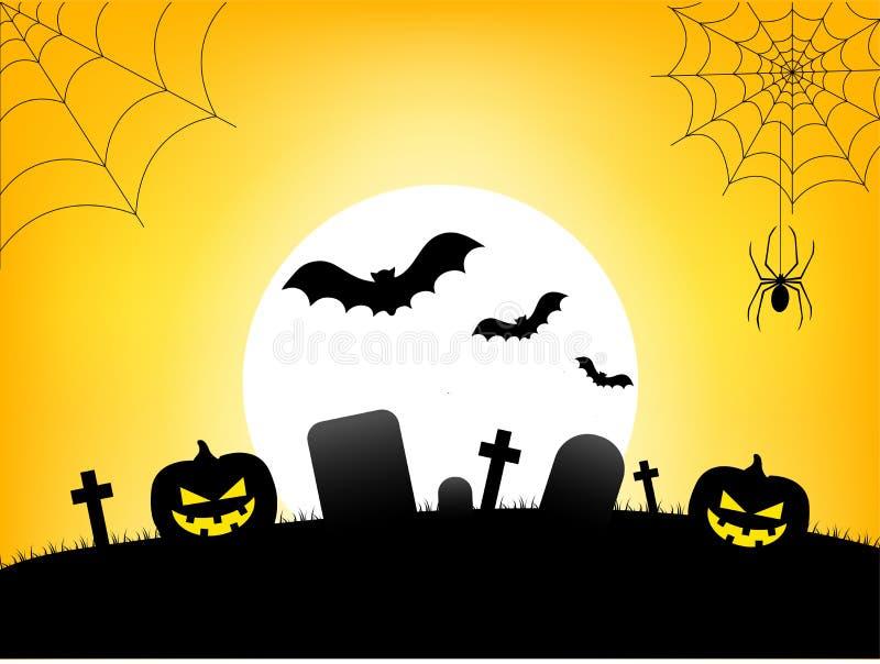 Bandera del texto del feliz Halloween, vector libre illustration