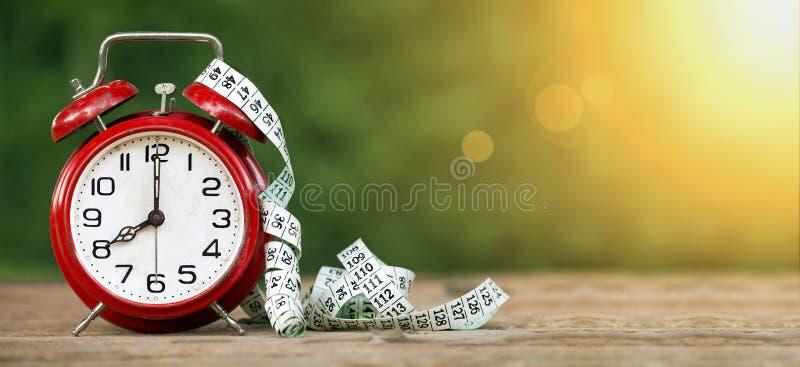 Bandera del tiempo de la dieta imágenes de archivo libres de regalías