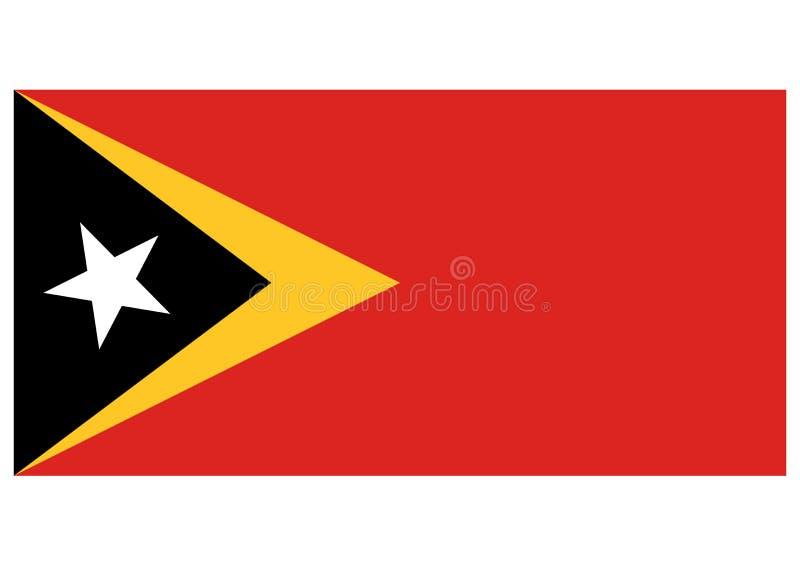 Bandera del Timor Oriental stock de ilustración