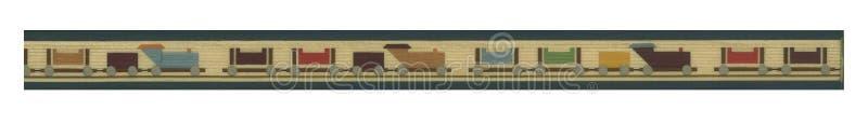 Bandera del tren ilustración del vector