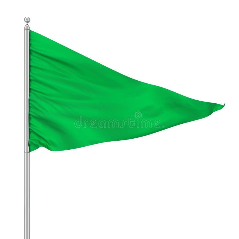 Bandera del triángulo ilustración del vector