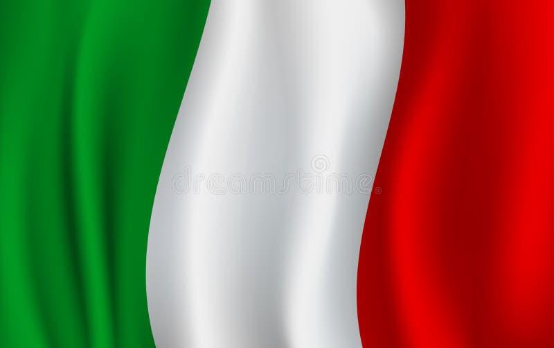 Bandera del vector 3D de Italia Símbolo nacional italiano libre illustration