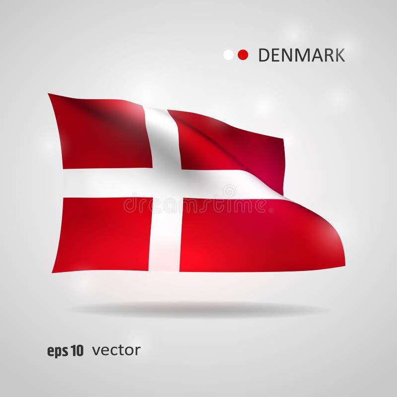 Bandera del vector de Dinamarca ilustración del vector
