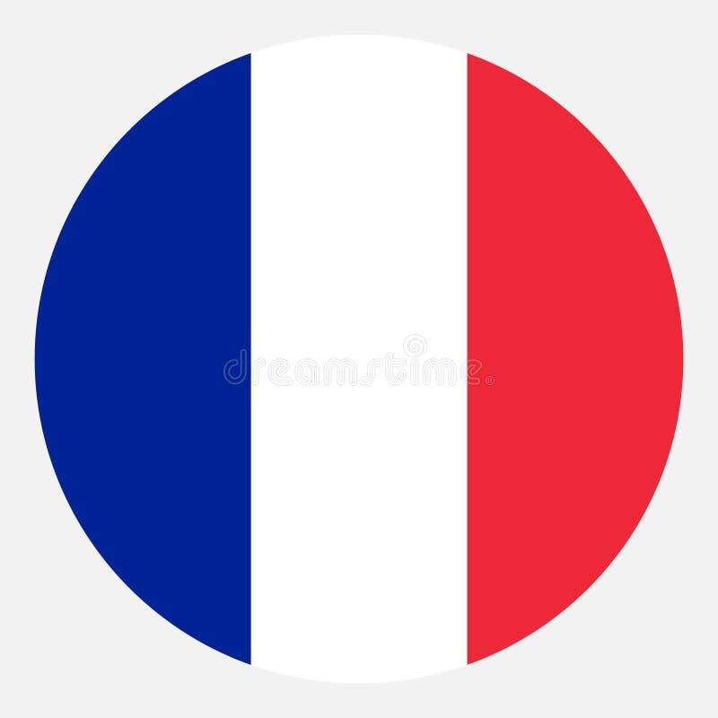 Bandera del vector de Francia foto de archivo