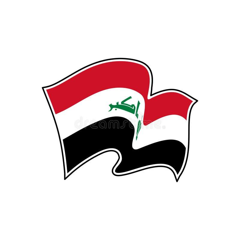 Bandera del vector de Iraq Símbolo nacional de Iraq ilustración del vector