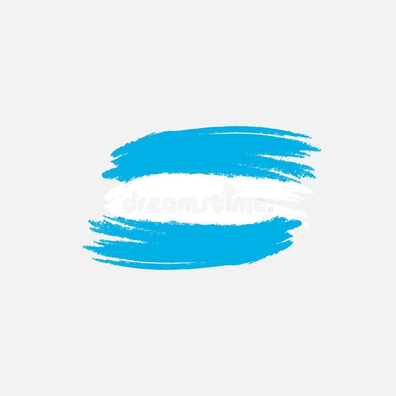 Bandera del vector de la Argentina Ejemplo del vector para el día nacional argentino Bandera de la Argentina en estilo de moda de libre illustration