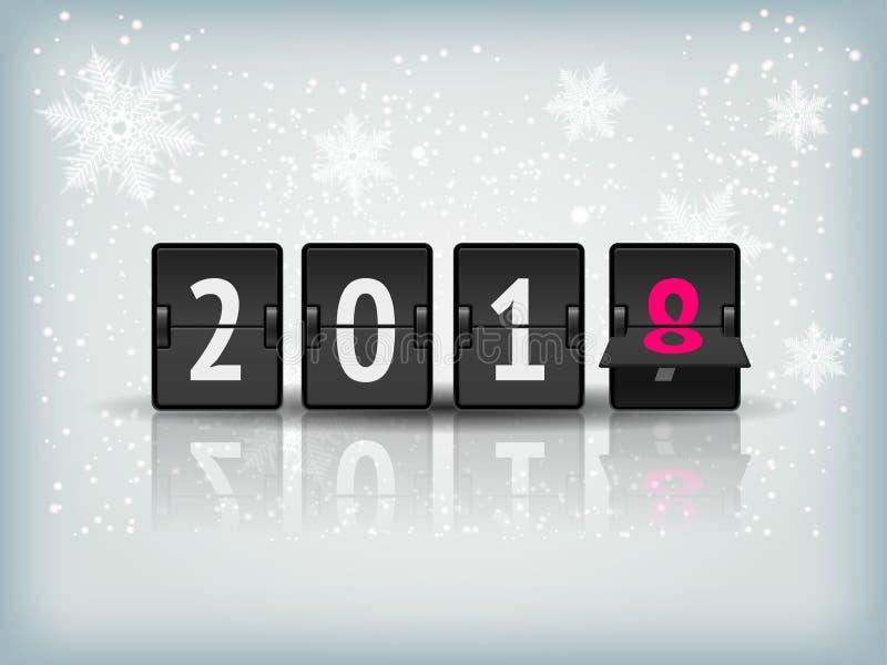 Bandera del vector de la cuenta descendiente del Año Nuevo stock de ilustración