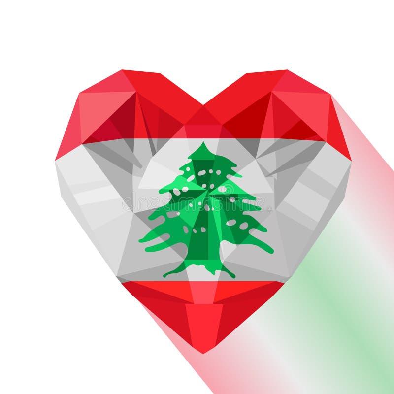 Bandera del vector de la República Libanesa stock de ilustración