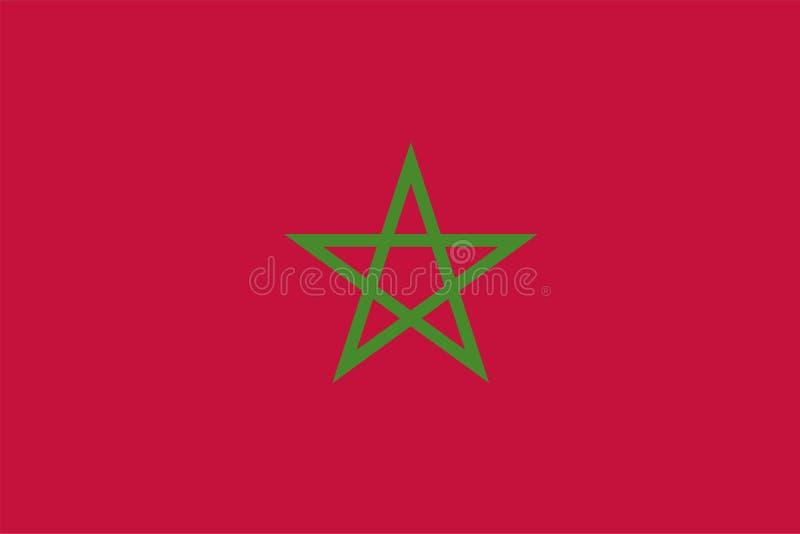 Bandera del vector de Marruecos Versi?n 2 2:3 de la proporci?n Bandera nacional marroqu? Reino de Marruecos libre illustration