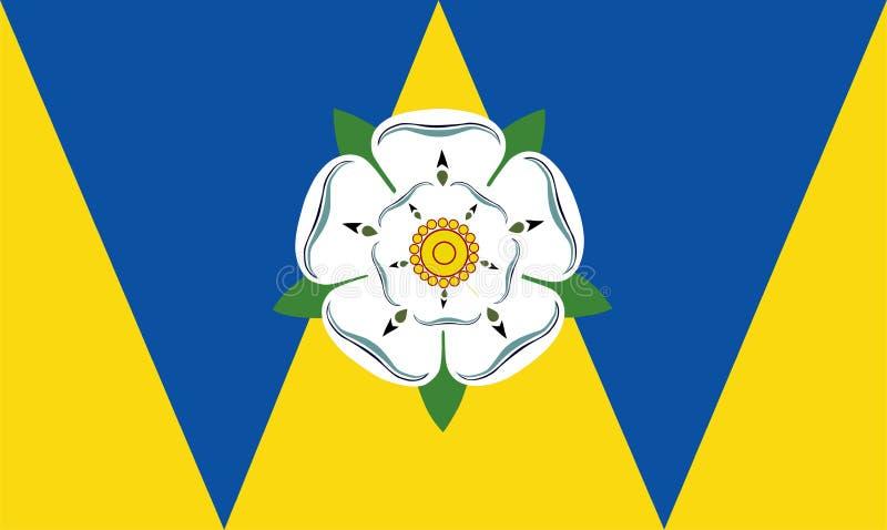 Bandera del vector de West Yorkshire libre illustration
