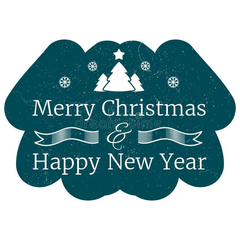 Bandera del vector del vintage de la Navidad y del Año Nuevo ilustración del vector