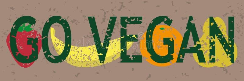 Bandera del vegano del vintage libre illustration