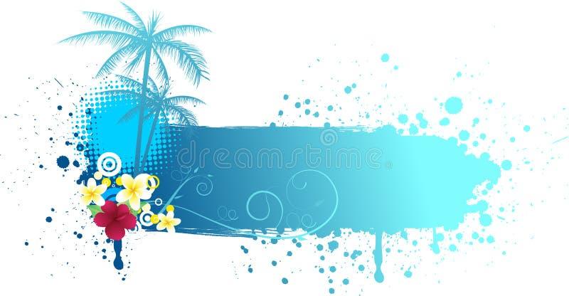 Bandera del verano del Grunge stock de ilustración