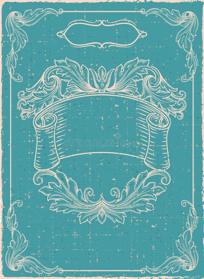 Bandera del vintage. stock de ilustración