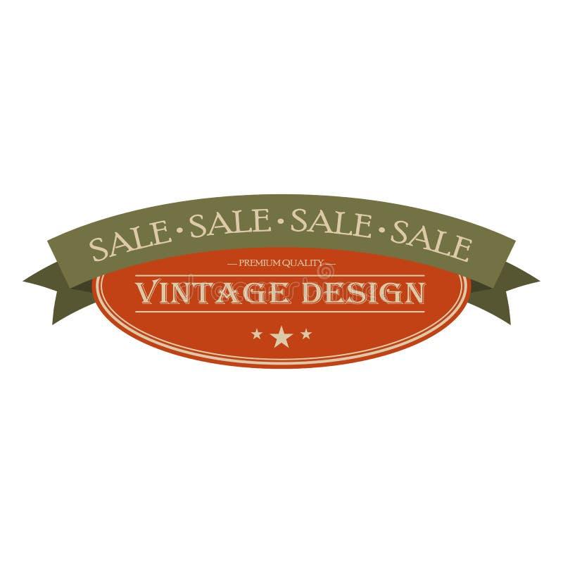 Bandera del vintage de la venta libre illustration