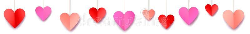 Bandera del web del día de tarjetas del día de San Valentín libre illustration