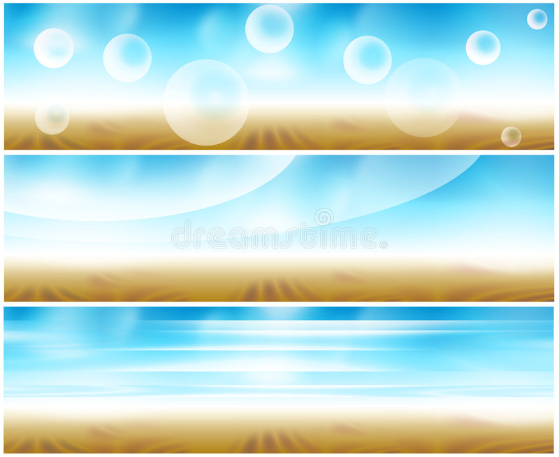 Bandera del Web del conjunto 3 stock de ilustración