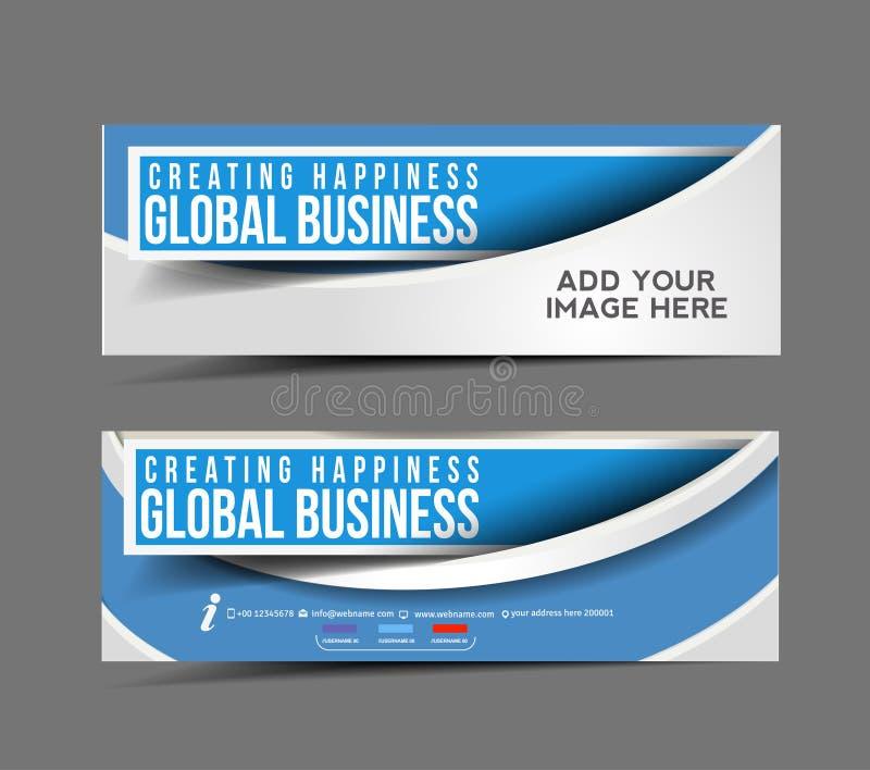 Bandera del web del negocio global libre illustration