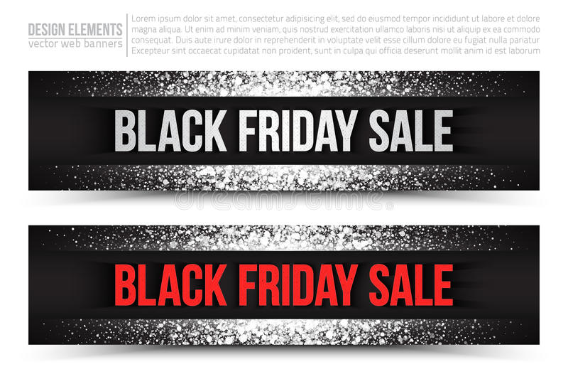 Bandera del web del vector de la venta de Black Friday libre illustration