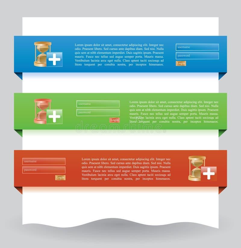 Bandera del Web site de la conexión libre illustration