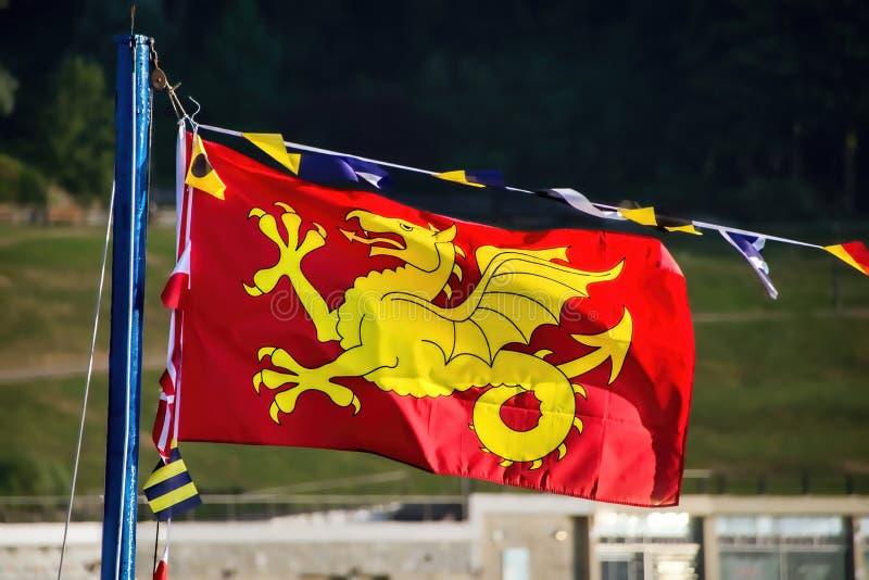 Bandera del Wyvern de Wessex fotografía de archivo