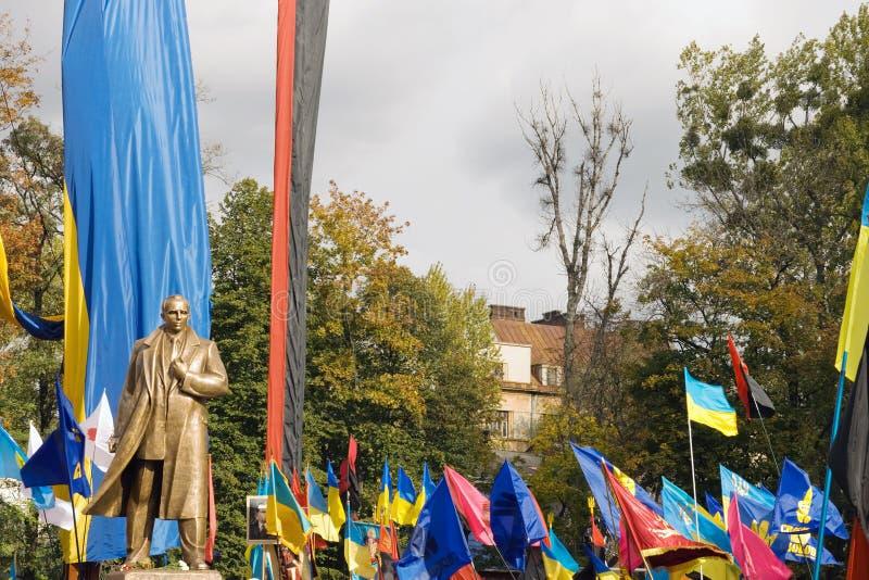 Bandera Denkmalenthüllung lizenzfreie stockfotografie