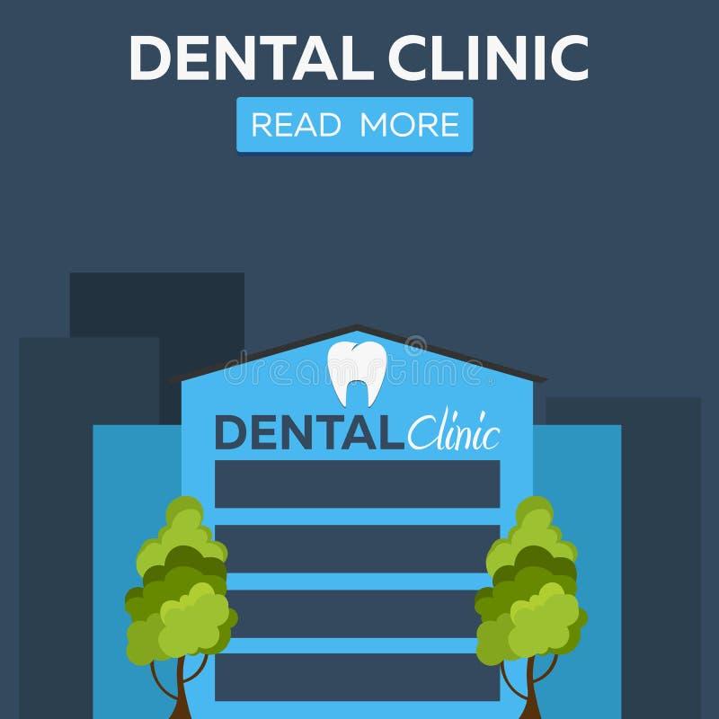 Bandera dental de la clínica Centro médico stock de ilustración