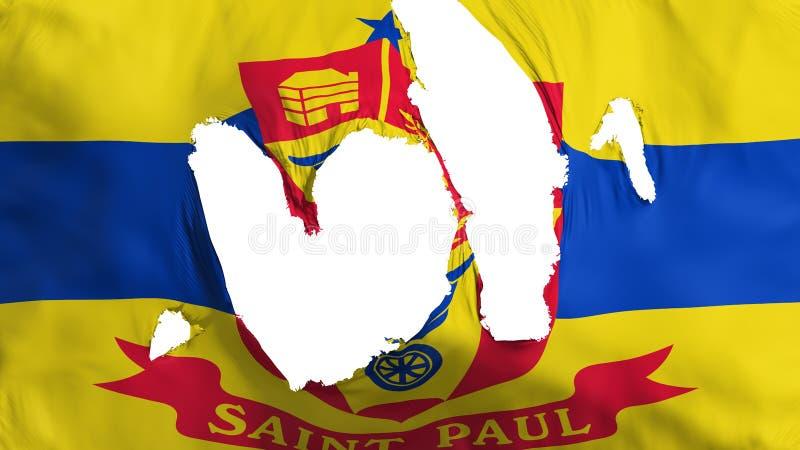 Bandera desigual del capital de Saint Paul ilustración del vector