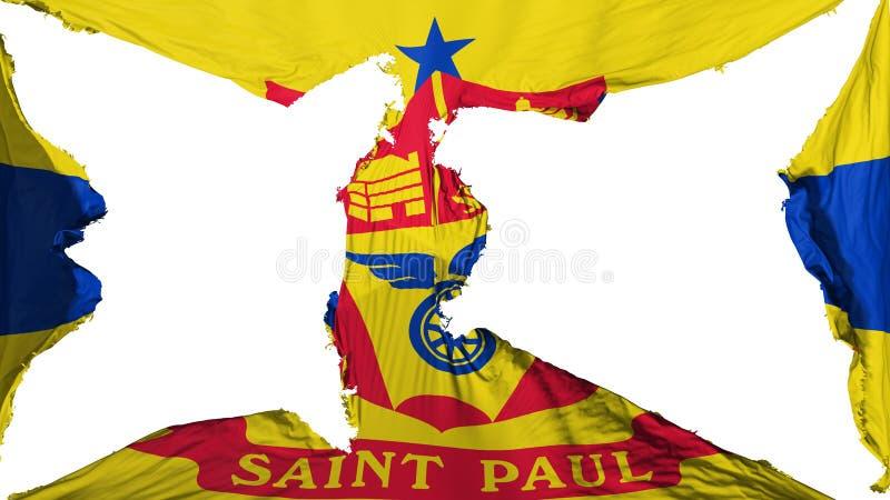 Bandera destruida del capital de Saint Paul stock de ilustración