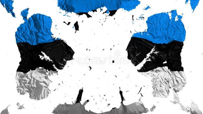 Bandera dispersada de Estonia stock de ilustración