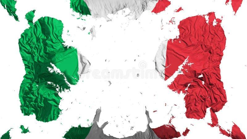 Bandera dispersada de Italia ilustración del vector