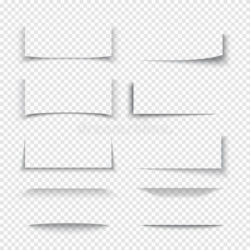 Bandera, divisor, efectos de la sombra 3d de la frontera del sitio web con los bordes transparentes libre illustration