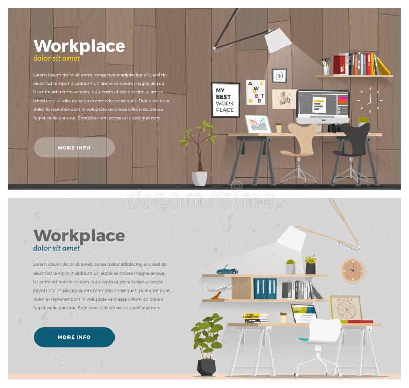 Bandera dos para el diseño web ilustración del vector