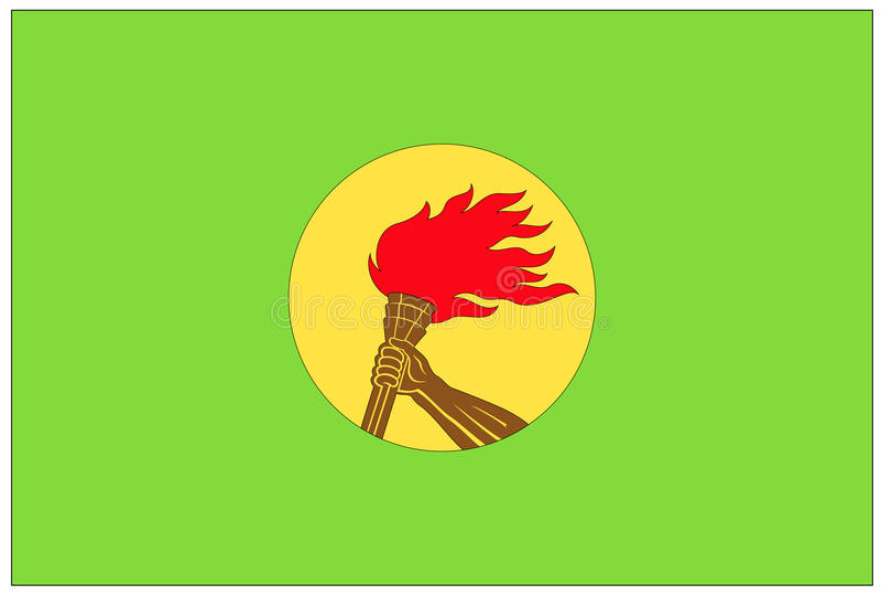 Bandera: El República del Congo Democratic libre illustration