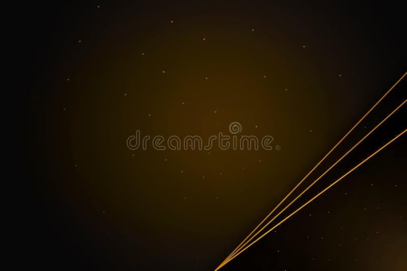 Bandera elegante con las líneas del oro, guirnalda del laurel en fondo marrón adornado stock de ilustración