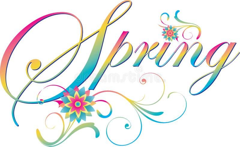 Bandera elegante de la primavera con las flores ilustración del vector