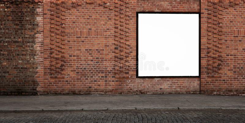 Bandera en blanco de la publicidad foto de archivo