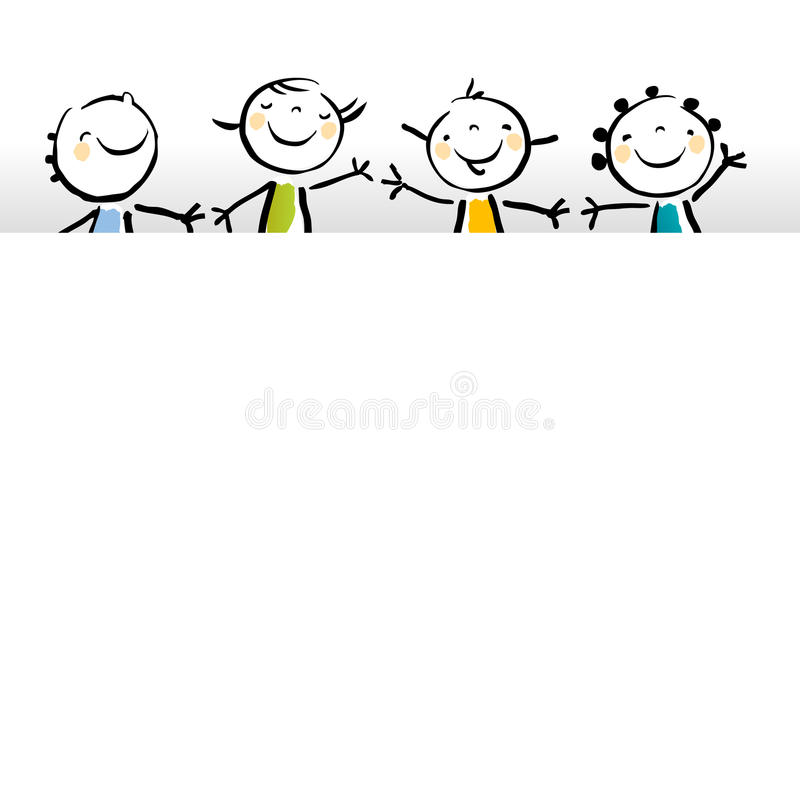 Bandera en blanco de los niños stock de ilustración