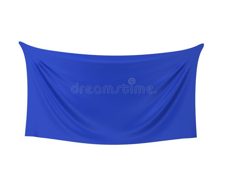 Bandera en blanco del paño libre illustration