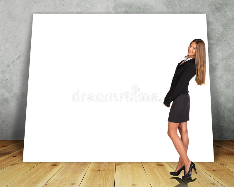 Bandera en blanco grande foto de archivo libre de regalías