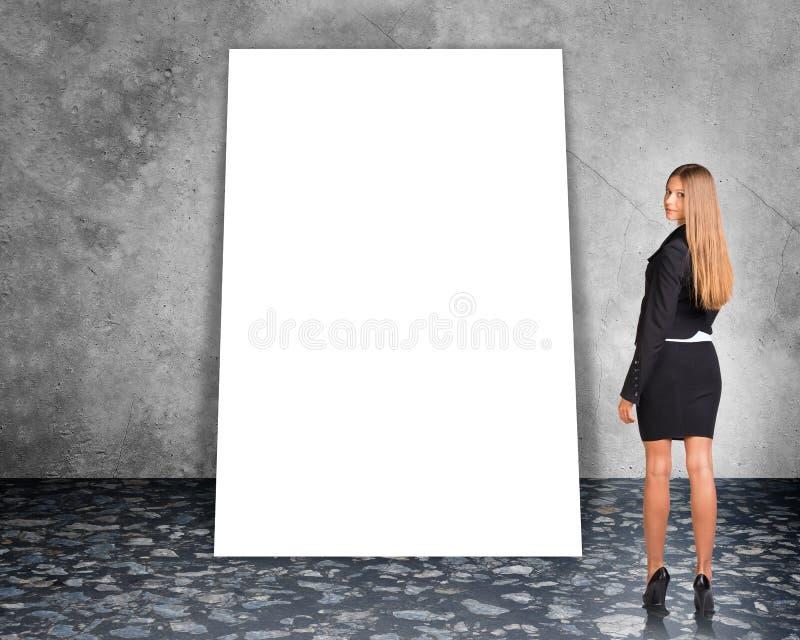 Bandera en blanco grande fotografía de archivo
