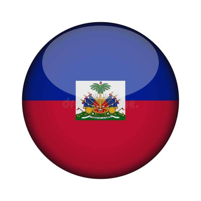 Bandera en el botón redondo brillante del icono stock de ilustración