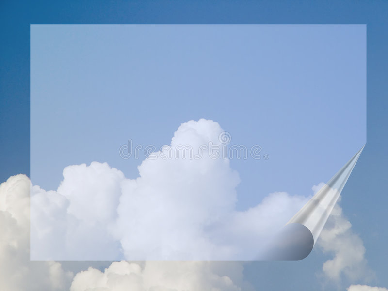 Bandera en el cielo stock de ilustración