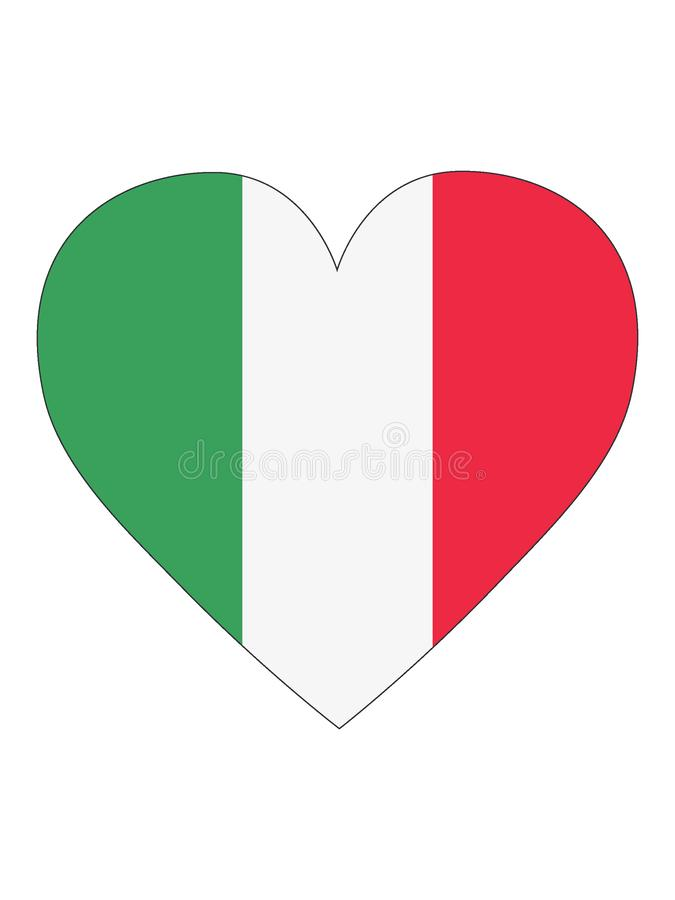 Bandera en forma de corazón de Italia libre illustration