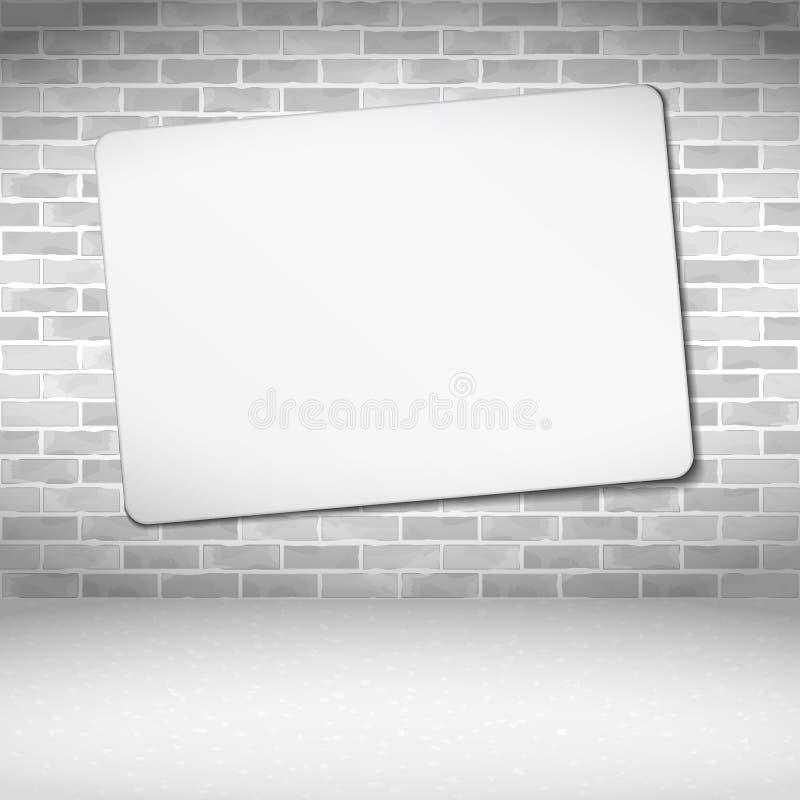 Bandera en la pared de ladrillo ilustración del vector