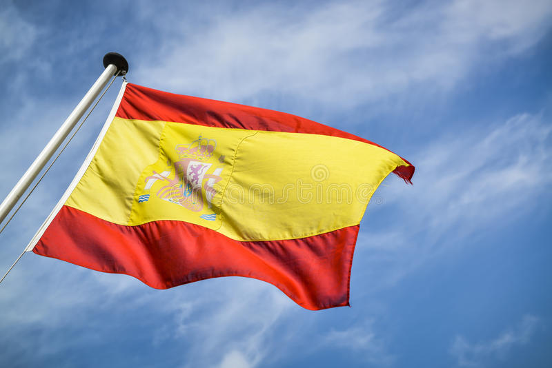 Bandera española foto de archivo