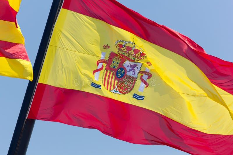 Bandera española fotografía de archivo