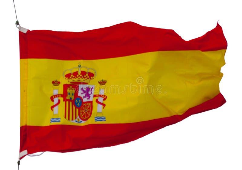 Bandera española aislada imagenes de archivo