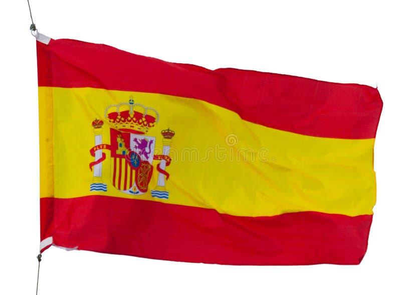 Bandera española aislada foto de archivo