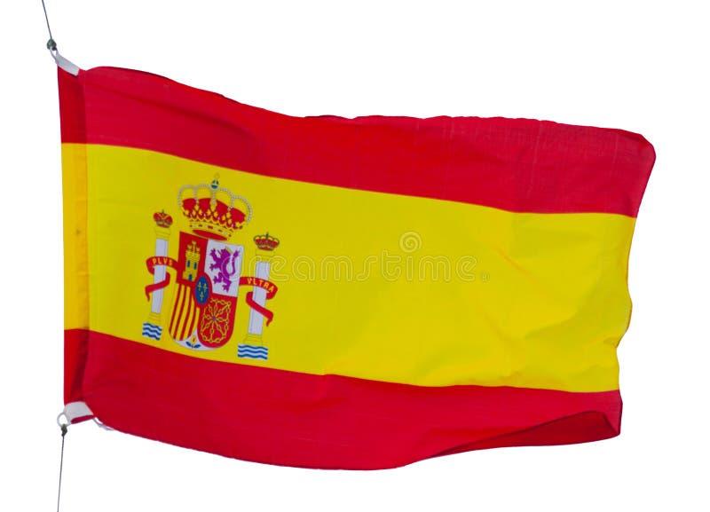Bandera española aislada fotografía de archivo libre de regalías